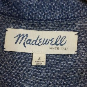 Madewell Dresses - Madewell drooped waist chambray print dress S